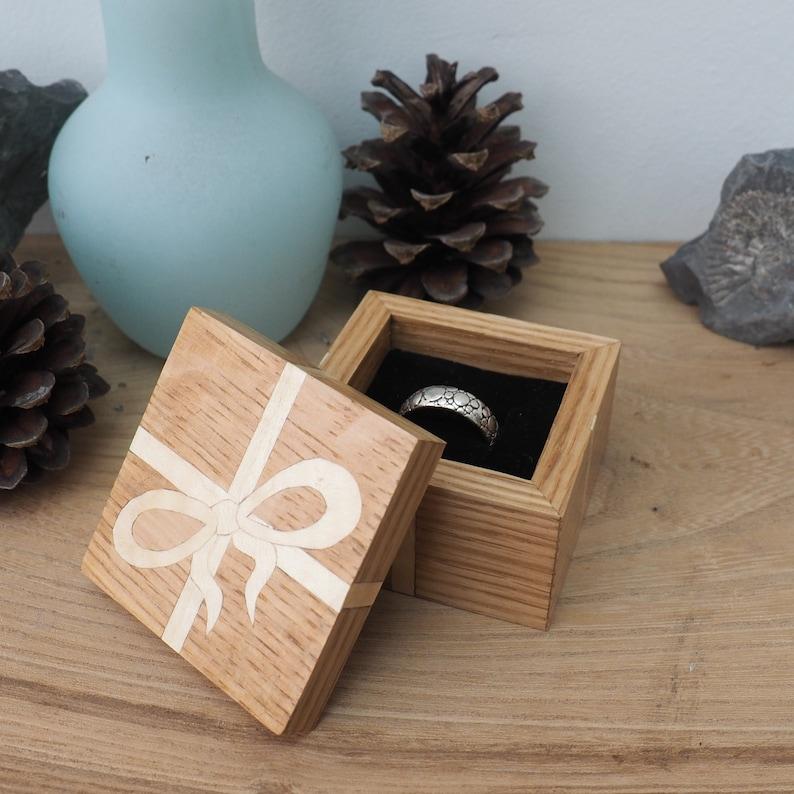 Wooden Ring Box Gift Box Wooden Gift Set Oak Ring Box