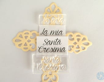 Silicone Stamp My Holy confirmation written scrapbooking