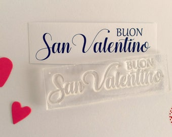 Silicone stamp Happy Valentine's Day, writing scrapbooking, Love