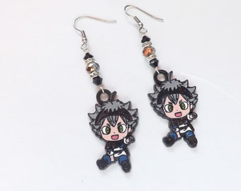 Black Clover Inspired Asta Earrings