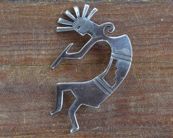 Vintage Sterling Silver Kokopelli Pendant