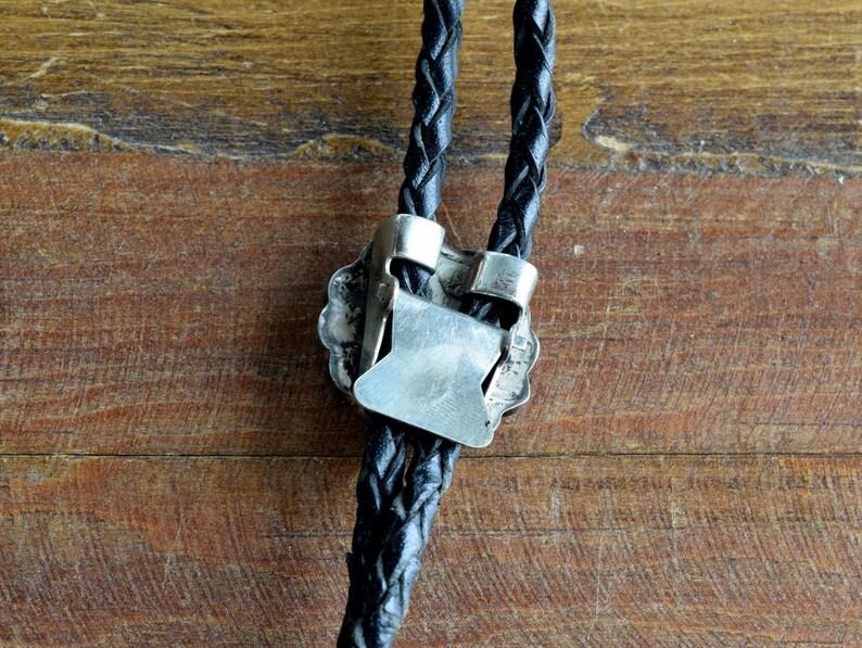 Vintage Zuni Sterling Silver Multi-Stone Sun Face Inlay Bolo Tie