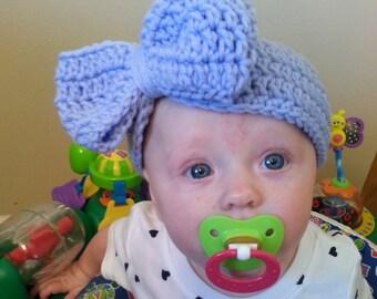 Giant bow headband, crochet