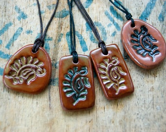 Aromatherapy Diffuser Pendant, Pottery, Diffuser Necklaces, Essential oils, Terracotta Jewelry, Natural Jewellery, Earth pendants