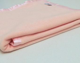 Pink Baby Blanket Cotton Fleece Baby Blanket Soft Girl Blanket Crib Blanket Warm Blanket Baby Shower Gift Stroller Blanket Toddler Blanket