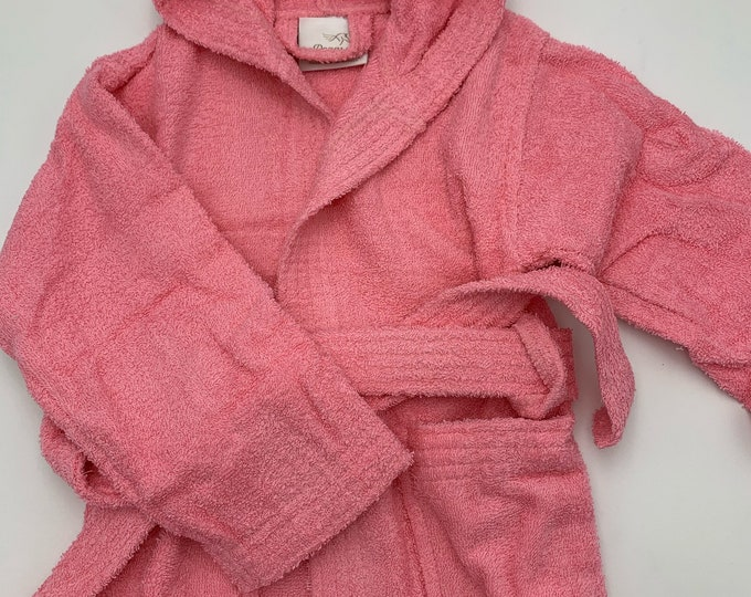 Baby Girl Bathrobe Cotton Personalized for Toddlers