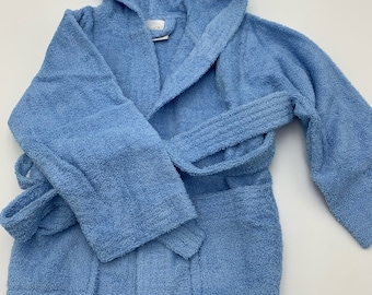 Baby Boy Bathrobe Cotton Personalized for Toddlers