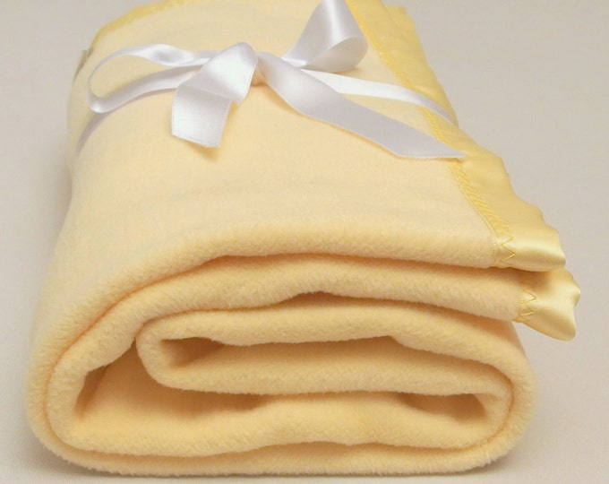 Yellow Baby Blanket Cotton Fleece Baby Blanket  Soft Baby Blanket Cotton Baby Blanket Swaddle Blanket Baby Shower Gift Crib Toddler Blanket