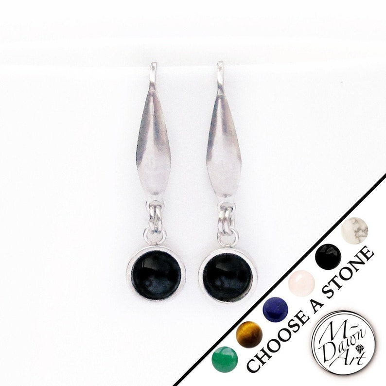 Personalized 6mm Gemstone Round Drop Surgical Stainless Steel image 0