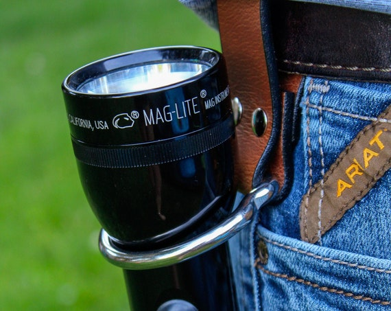 Leather Maglite Holster - in Black or Brown