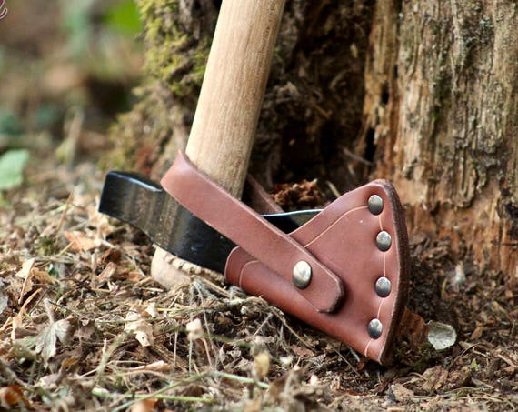 Leather Axe Sheath for Cold Steel Tomahawk Series (Trail Hawk and Pipe Hawk Models)