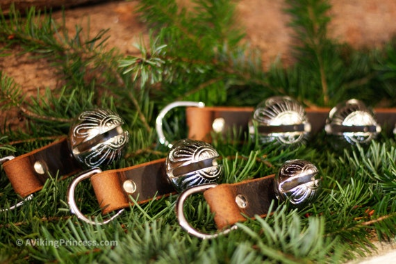 Silver Sleigh Bells - D Ring, Scissor Clip or Door Hanger - Large, Medium, Small and Triple