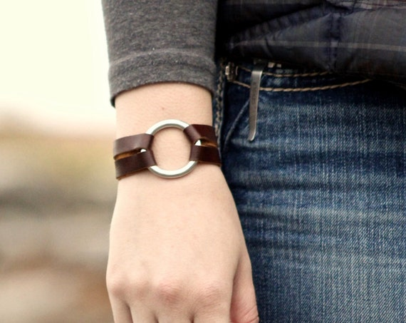 Petite Essential Leather and Silver Bracelet - 6 Colors (Browns, Black and White)