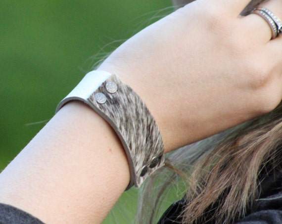 The Designer Leather Bracelet - Hair on Hide - Limited Edition