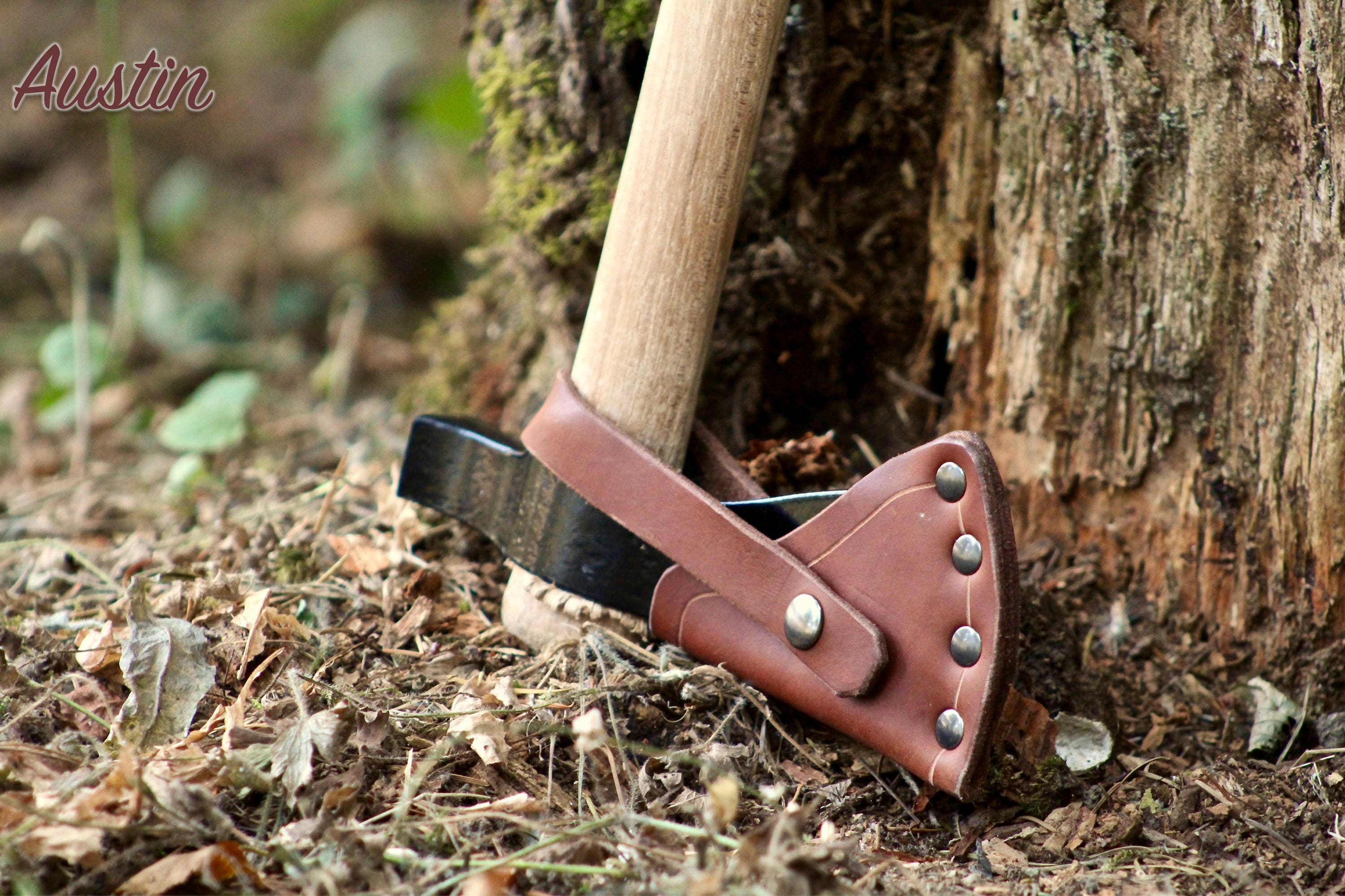 Leather Axe Sheath for Cold Steel Tomahawk Series (Trail