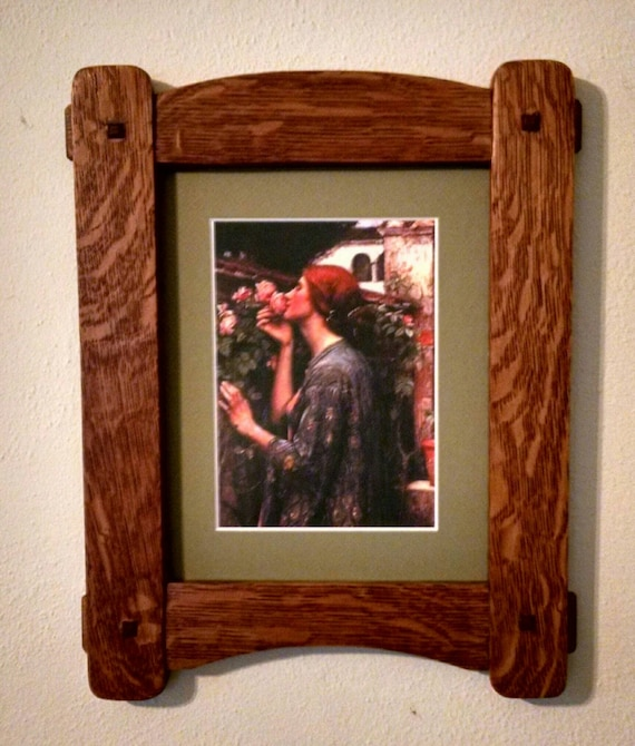 Mission Arts And Crafts Style Picture Frame Etsy