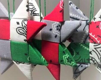 Bandana Scandinavian Star Ornaments