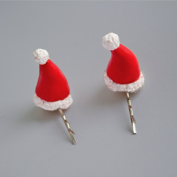 Cute  Party Decoration Christmas Hat Hairpin  Xmas Gift   Mini Hair Clip