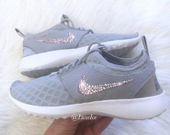 san francisco b930e e23b4 Bling Nike Juvenate Wolf Grey White Cool Grey with SWAROVSKI® Xirius Rose-Cut  Crystals AB.