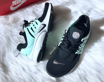Swarovski Nike Air Presto - Black Igloo Summit White Black customized with  SWAROVSKI® Crystals. 0860735762c0