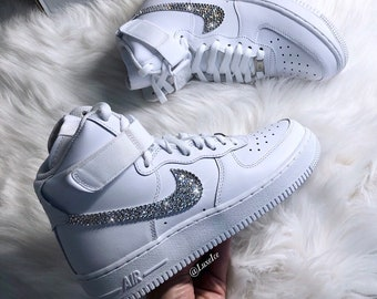 promo code d691c cdec0 Swarovski Nike Air Force 1 High customized with SWAROVSKI® Xirius Rose-Cut  Crystals.