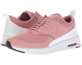 huge discount dec15 302cc Swarovski Nike Air Max Thea Casual Shoes - Rust Pink Summit White Blinged  with SWAROVSKI® Xirius Rose-Cut Crystals.