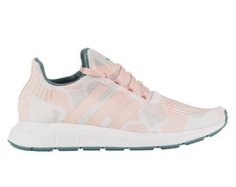 d48668539659 Adidas Swift Run - Talc Icey Pink White customized with SWAROVSKI® Xirius  Rose-Cut Crystals.