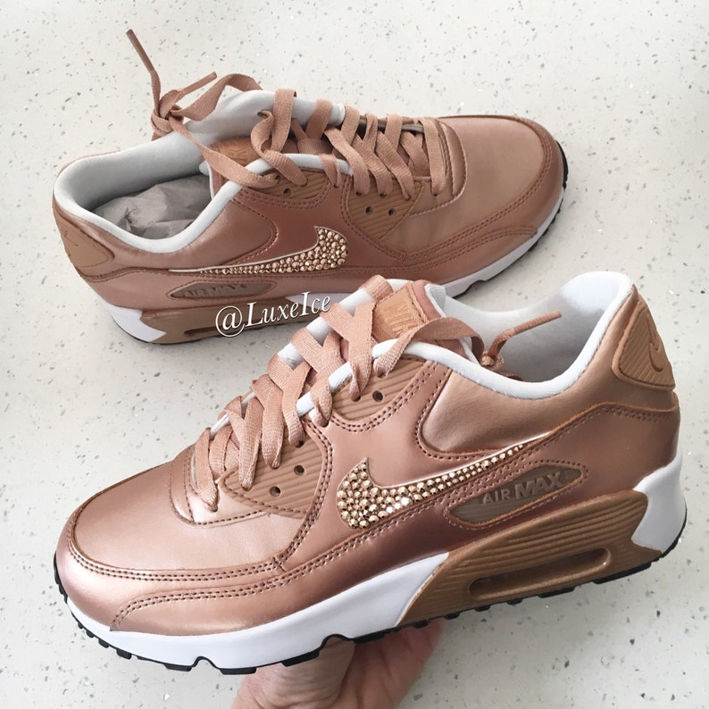 6a9f91c78f9b Nike Air Max 90 SE Leather Shoes Made with SWAROVSKI® Crystals