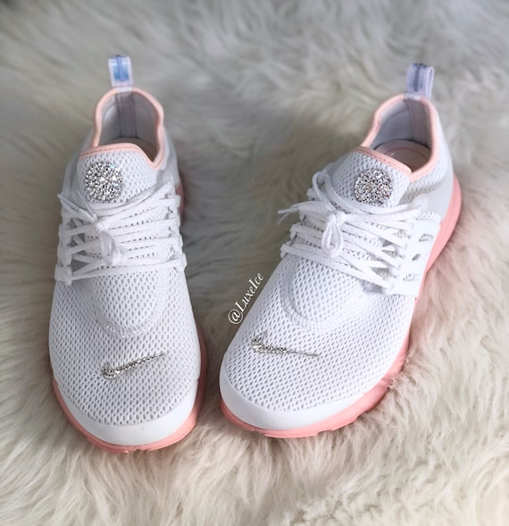 huge discount f0e62 efe19 discount nike womens air presto black running shoe sz 9 bm us e7e8a fa255   closeout nike air presto white bleached coral sunset tint customized etsy  3b8c3 ...
