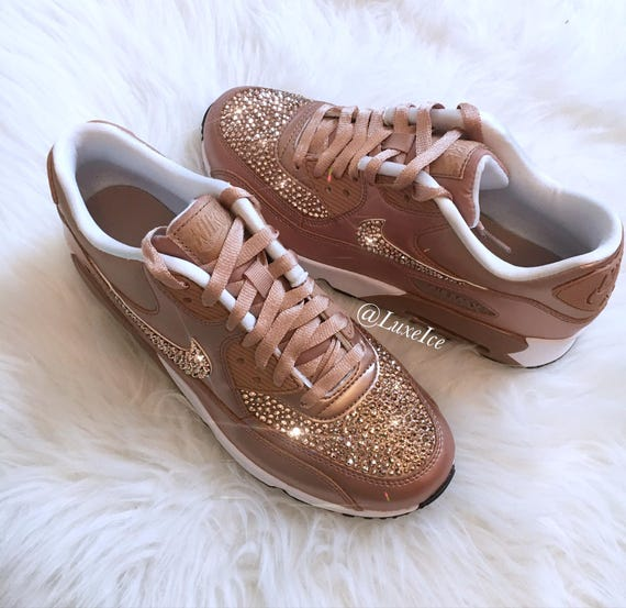 watch 54e2d 837ff Nike Air Max 90 SE Leather Shoes Made with SWAROVSKI® Crystals   Etsy