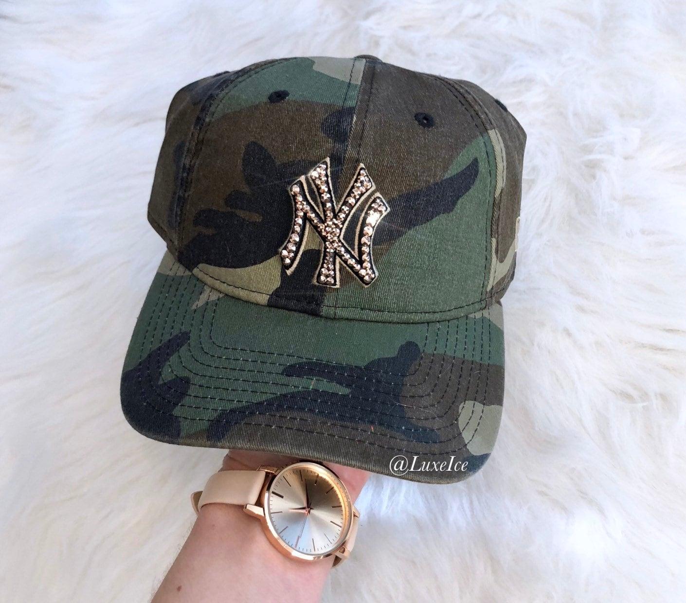 9c2ce335421 Swarovski New Era NY Hat customized with Swarovski 2088