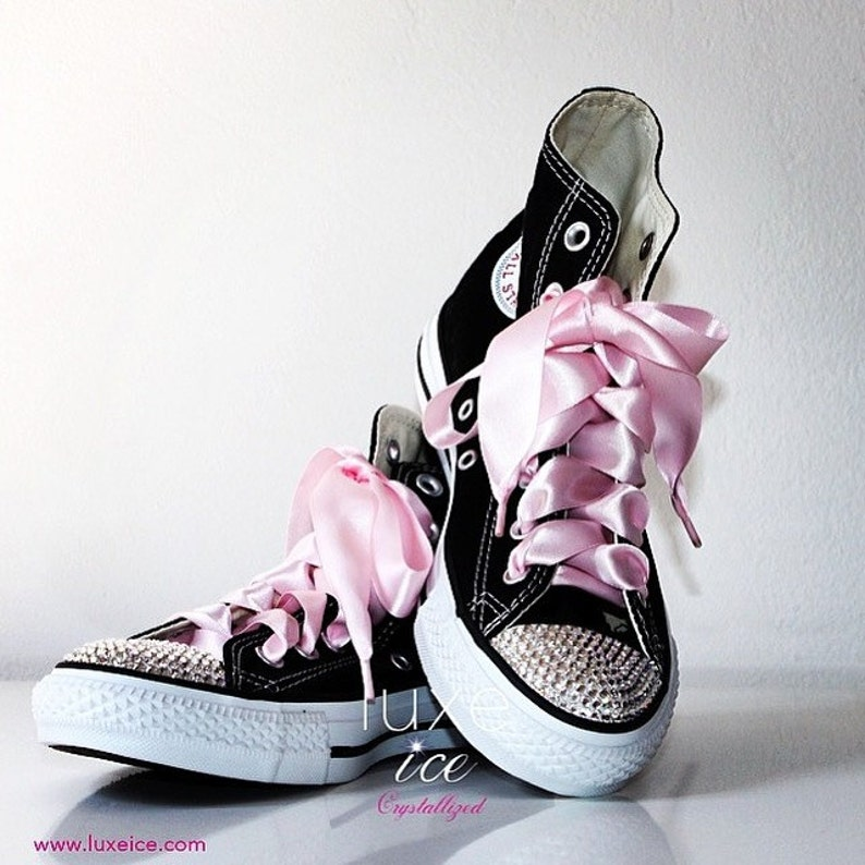 47662a51a0f1 Swarovski Converse All Star Chuck Taylor Shoes Adult Sizes