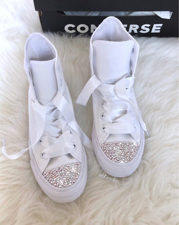 0d5787c72e55 Swarovski Converse All Star Chuck Taylor High Tops Adult