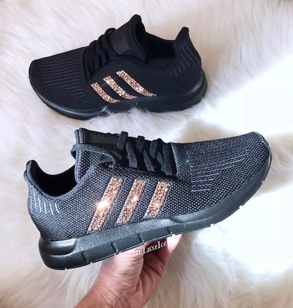 online store e8f84 0cf38 Adidas Swift Run customized with Rose Gold SWAROVSKI® Xirius   Etsy