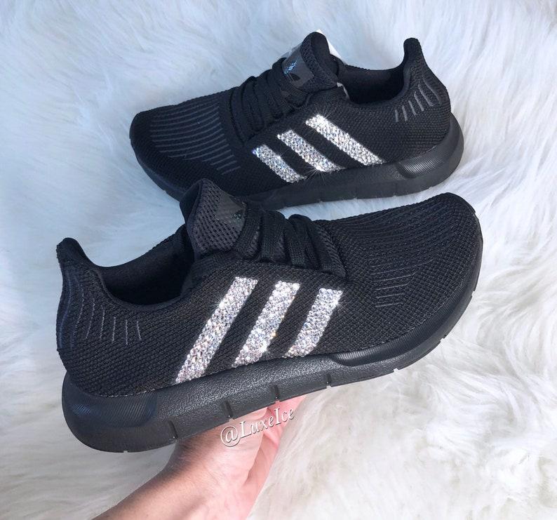 0839b45fd Swarovski Women s Adidas Swift Run Casual Shoes customized