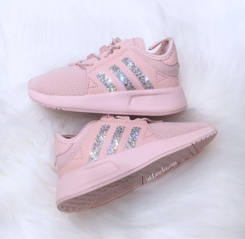 f8eac5da313b1 Girls Toddler Adidas Originals XPLR customized with SWAROVSKI®