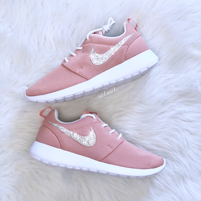 official photos 2206d 9bad1 Swarovski Nike Roshe One Casual Shoes Coral StardustWhite  E
