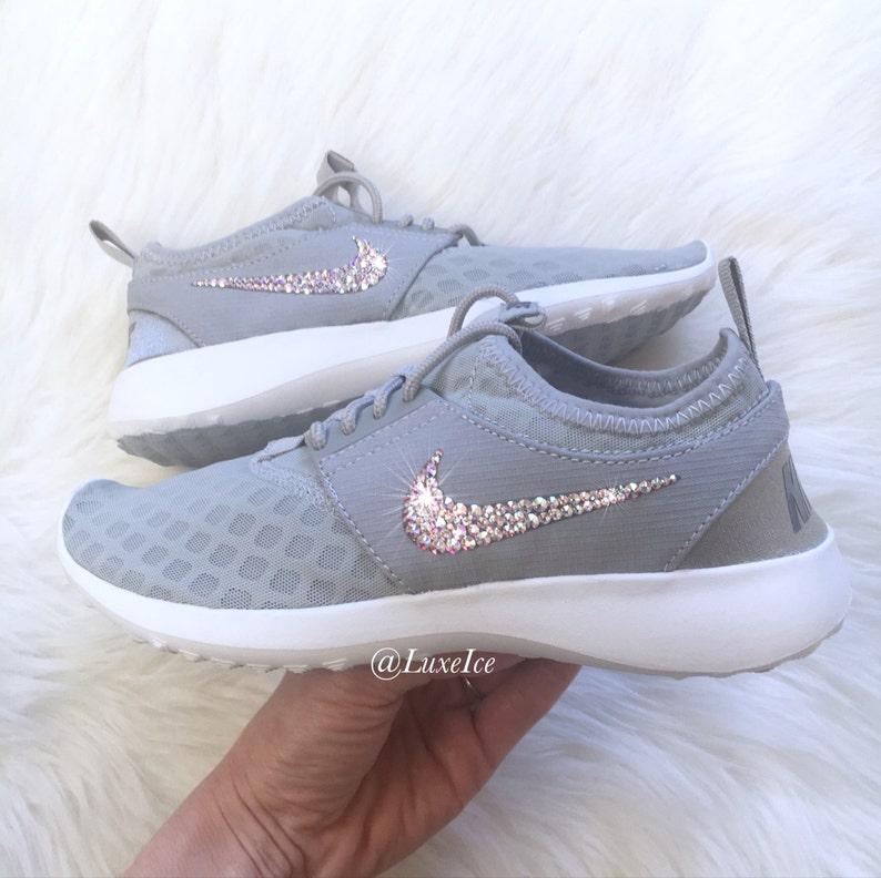 best service bc732 958fd Bling Nike Juvenate Wolf Grey White Cool Grey with SWAROVSKI®   Etsy