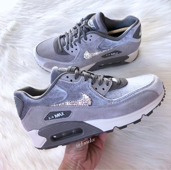 Nike Air Max 90 LX Velvet customized with SWAROVSKI® Crystals  e84dc094f