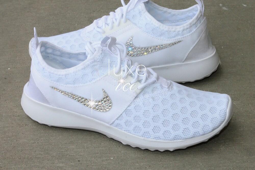 6b38b54703b2 Bling Nike Juvenate WHITE PURE Platinum with SWAROVSKI® Xirius