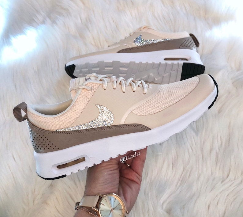 Women s Nike Air Max Thea - Guava Ice Diffused Taupe Blinged with Rose  Gold... Women s Nike Air Max Thea - Guava Ice Diffused Taupe Blinged with  Rose Gold ... d4e7504be