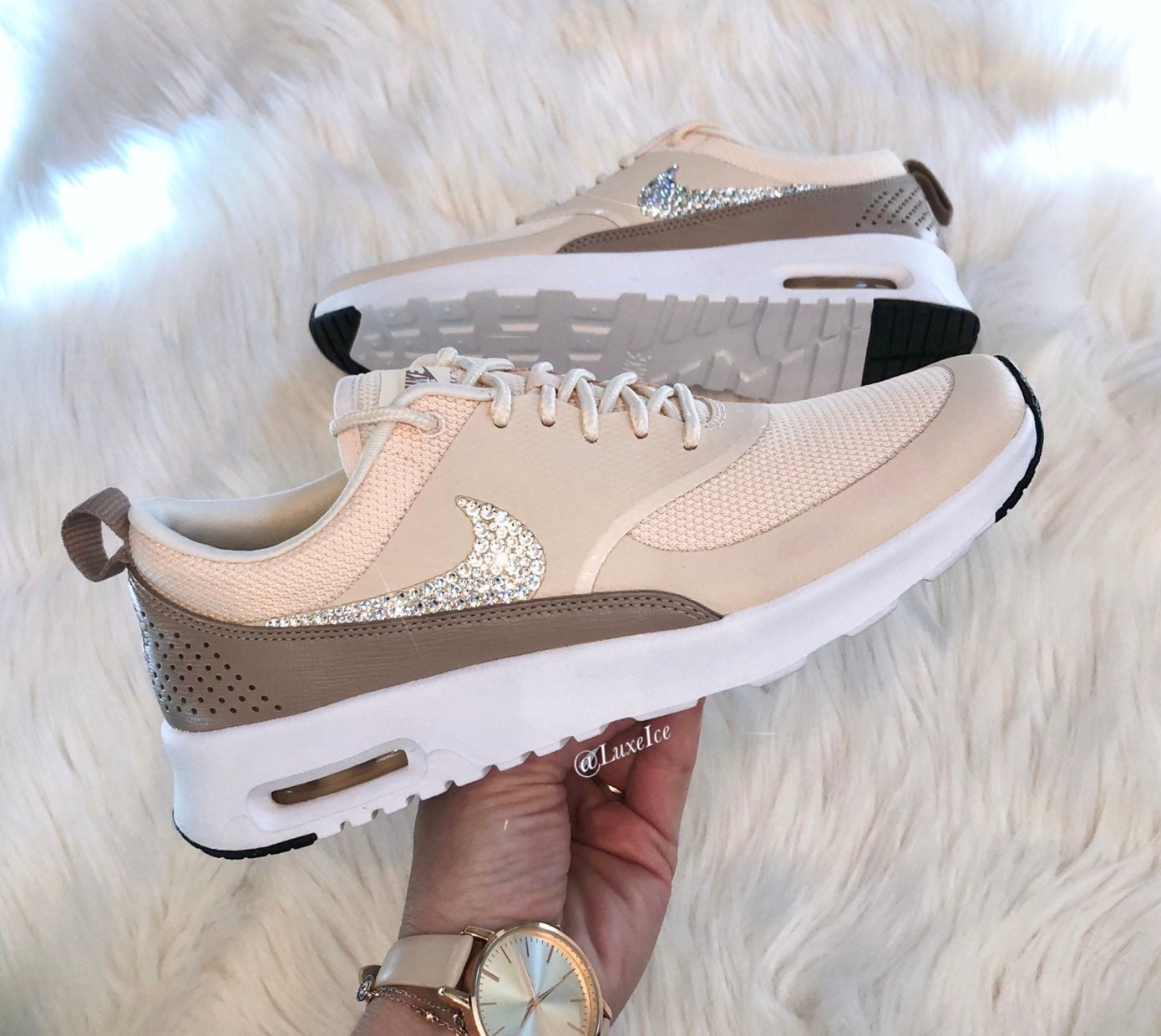 brand new fd2a2 b1678 Women s Nike Air Max Thea Guava Ice Diffused Taupe   Etsy