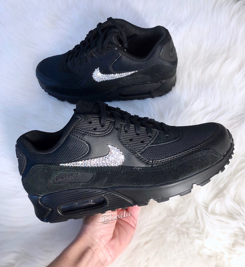 new products b7298 2c13b Nike Air Max 90 noir personnalisé avec des cristaux SWAROVSKI®   Etsy