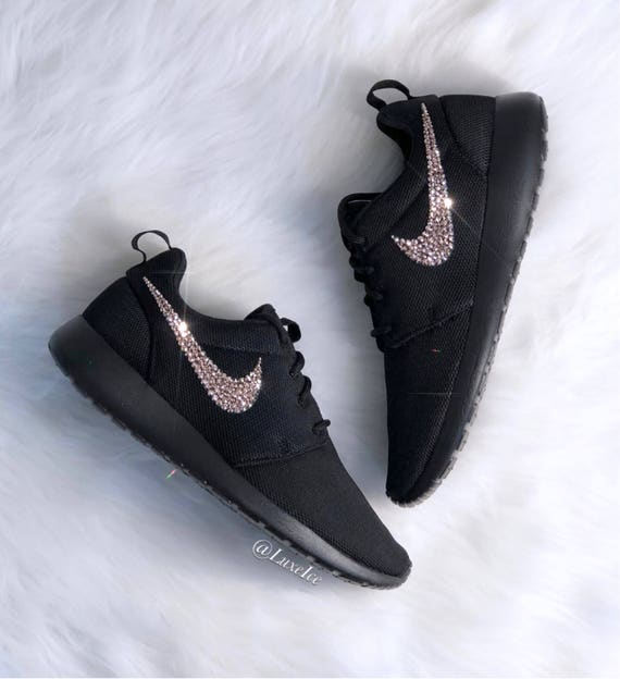 Black Cut One Roshe Nike Gold Women's customized Rose SWAROVSKI® Crystals Rose Xirius with xTntWPW