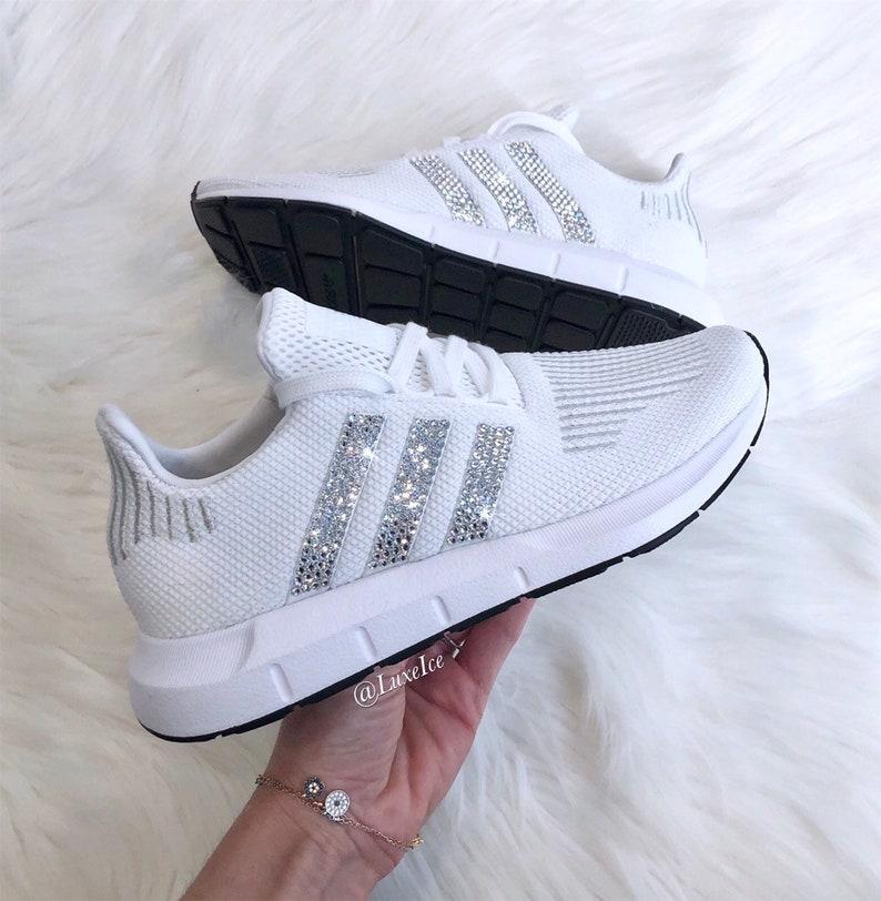 5fc64be14 Swarovski Women s Adidas Swift Run Casual Shoes.