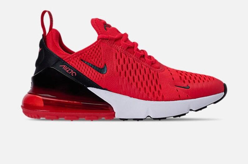 Women Swarovski Nike Air Max 270 Light Crimson Black  eab0b684d6