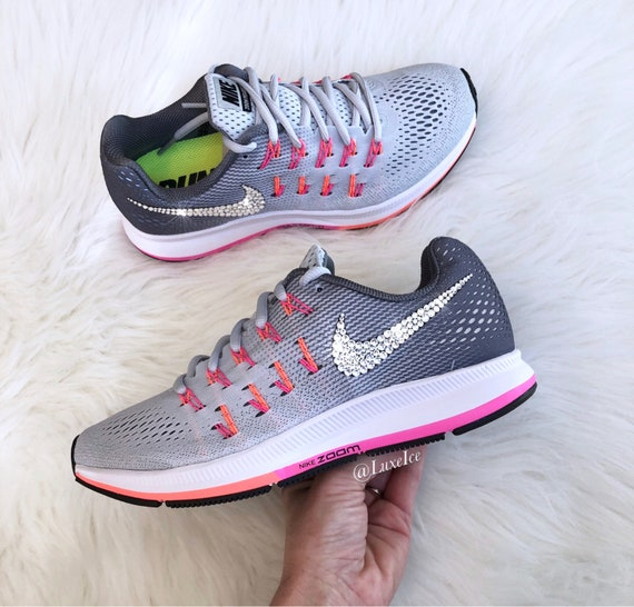 84ec2e22c963 ... sweden nike air zoom pegasus 33 customized with swarovski xirius etsy  3f395 2358d