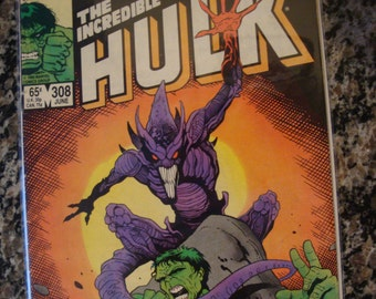 Incredible Hulk Issue 308 Marvel comics