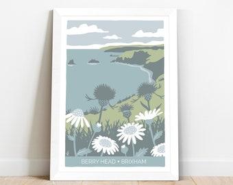 Berry Head Nature Reserve, Brixham, Devon. Coastal art print
