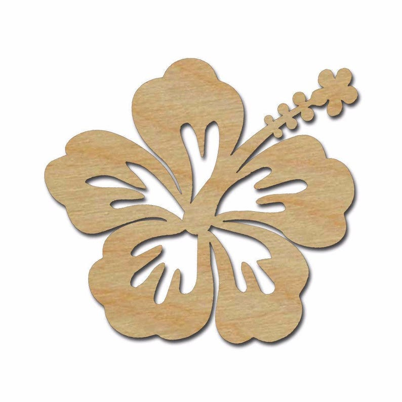 Hibiscus Flower Wooden Flower Wall Decor Wall Art Wall Hanging Bedroom Guest Room Decor Large Wood Sign Flower Wood Shape